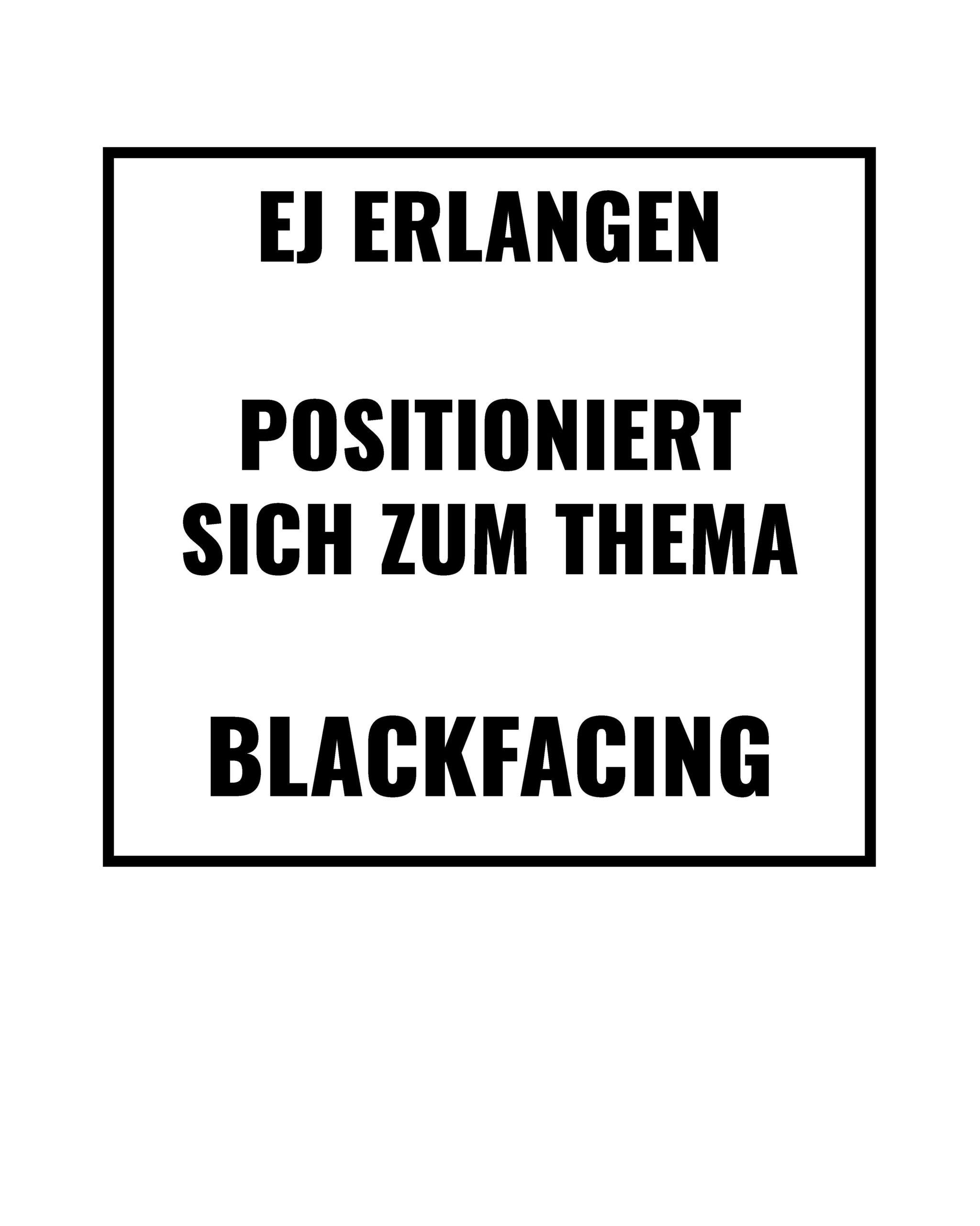 Unsere Stellungnahme zu BLACKFACING